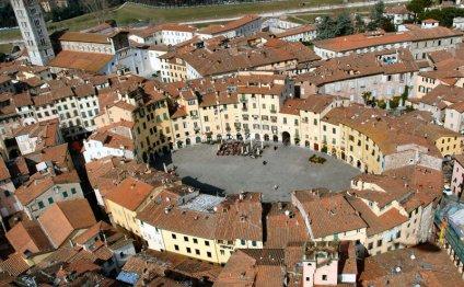 Италия - панорама города Лукка