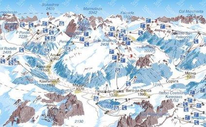 Карта Валь-ди-Фассы