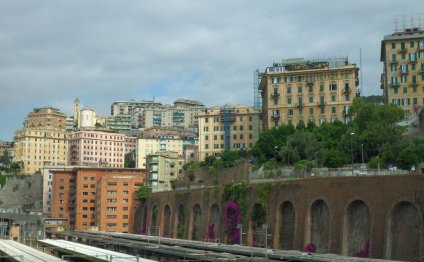 Вид на Геную с ЖД вокзала